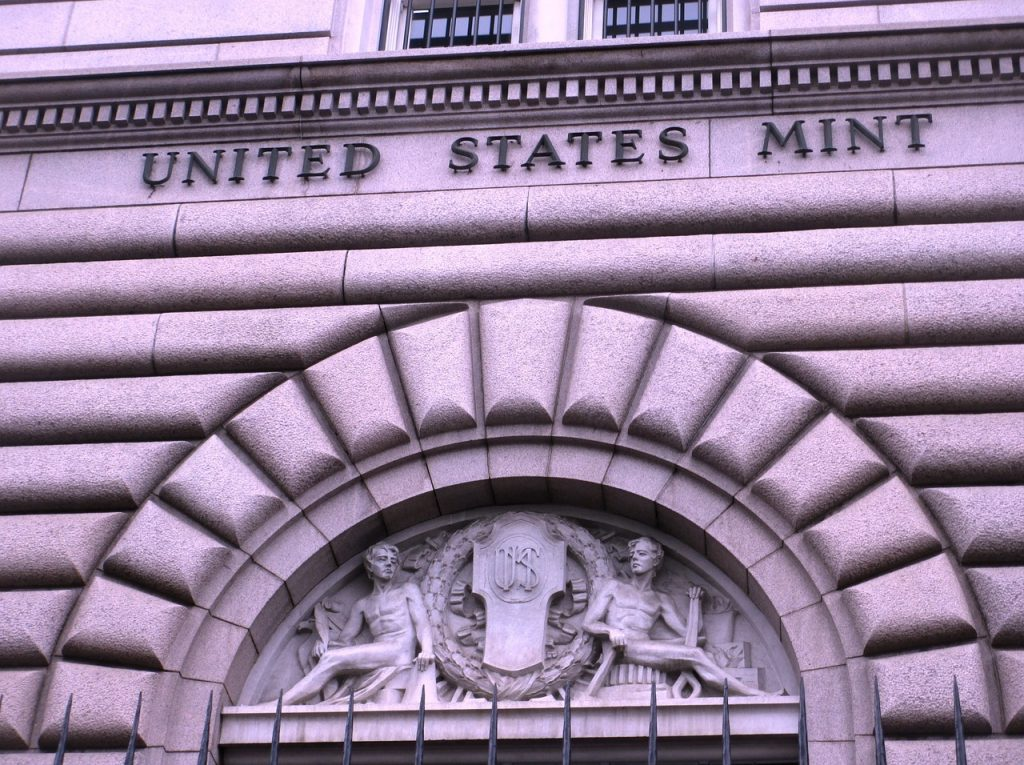 us mint united states mint building front gray