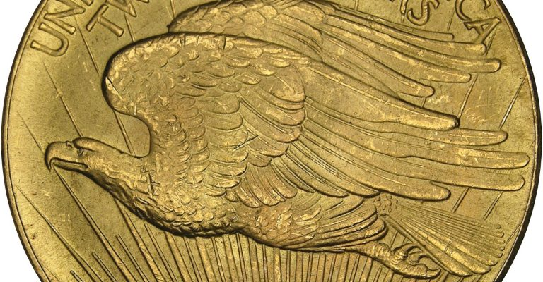 Double Eagle 1933 United States Gold Coin Front Young Eagle